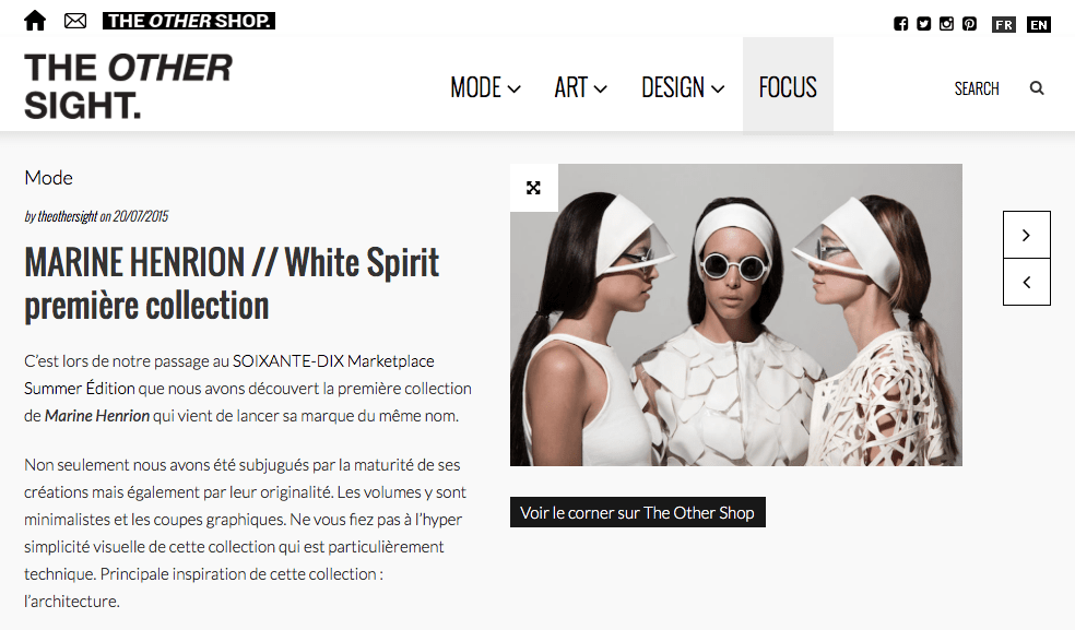 MARINE HENRION ® | Site Officiel Press