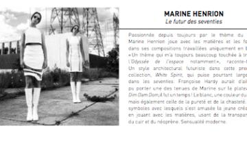 MARINE HENRION ® | Site Officiel  Taf Magazine - 2016