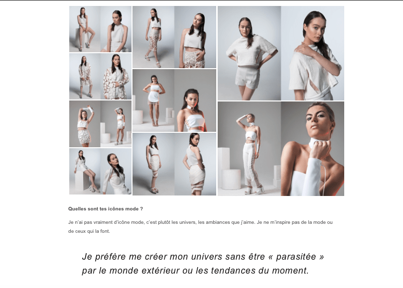 MARINE HENRION ® | Site Officiel  Interview - 69 MAGAZINE - 2016
