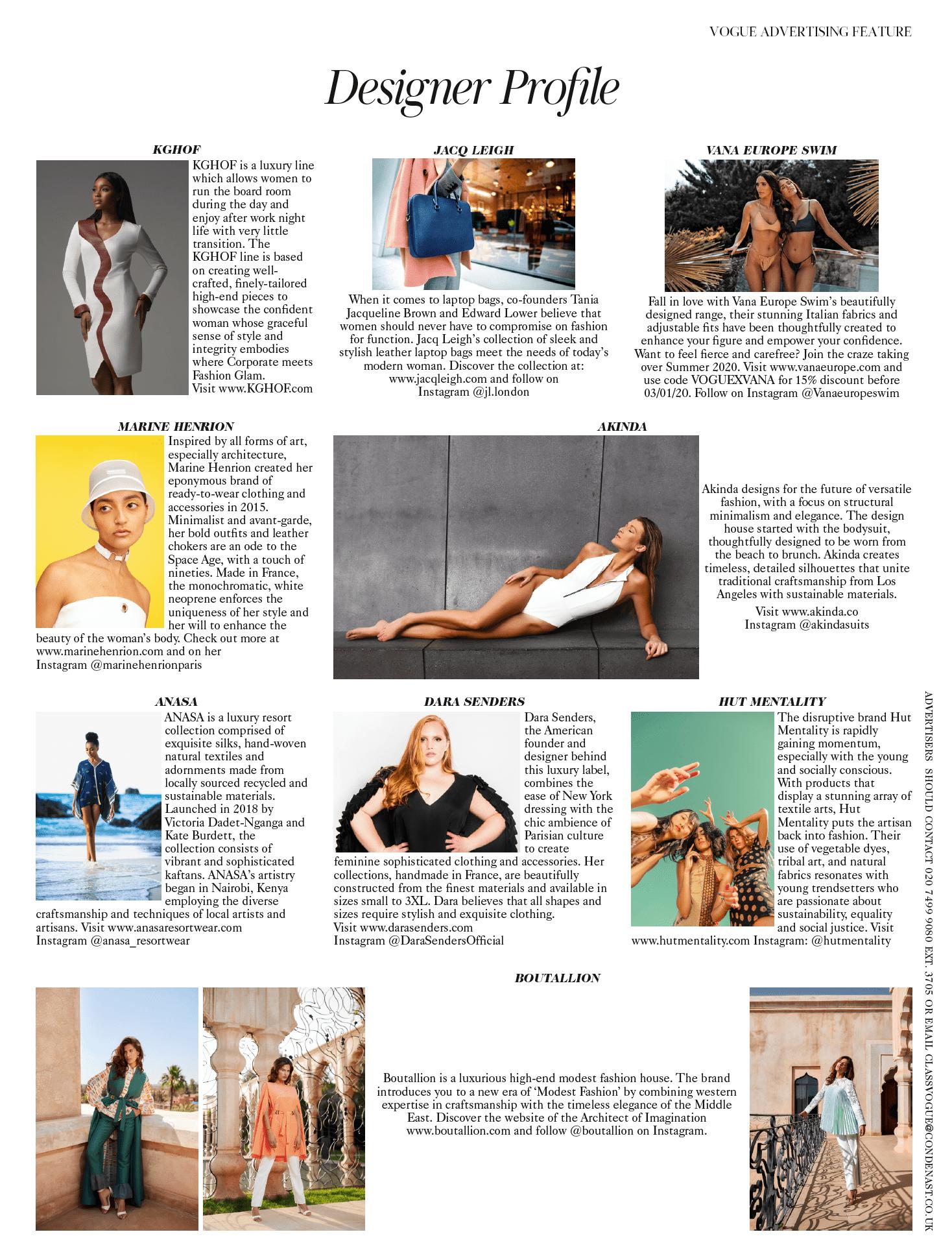 MARINE HENRION ® | Site Officiel | Créatrice de mode futuriste Vogue UK - Janvier 2020