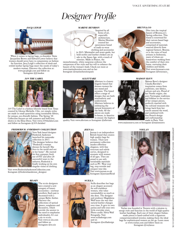 MARINE HENRION ® | Official Site | Futuristic fashion designer Vogue UK - March 2020