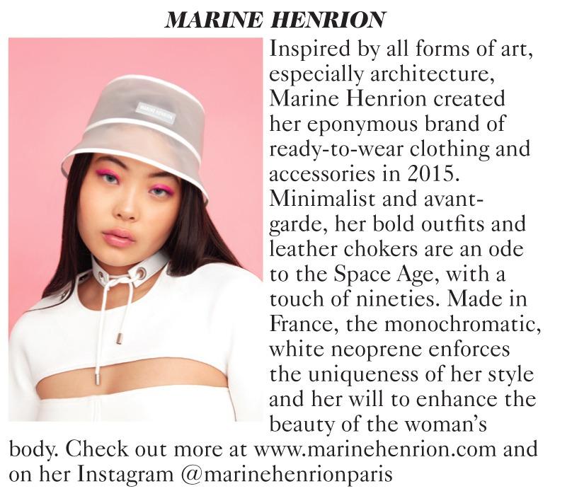 MARINE HENRION ® | Site Officiel Vogue UK - February 2020