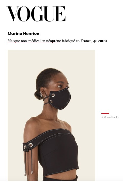 MARINE HENRION ® | Official Site | The french minimalist and ethical fashion brand Vogue.fr